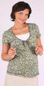 Těhotenské a kojíci  tričko halenka krátký rukáv