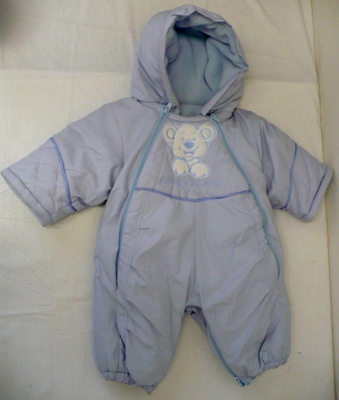 Dětská kojenecká zimní kombinéza + bačkůrky modrá 68 Vejnar