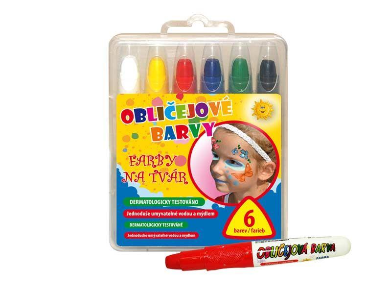 Barvy na obličej 6ks set obličejové barvy