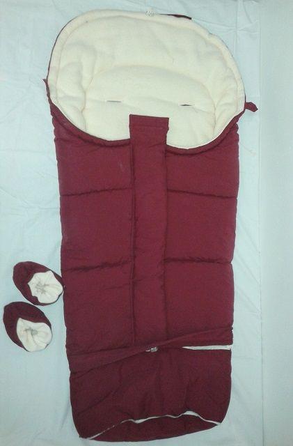 Dětský zimní prodloužený fusak červený Queen