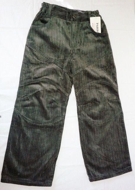 Kalhoty manžestráky manžestrové manšestrové - VÝPRODEJ Parrot