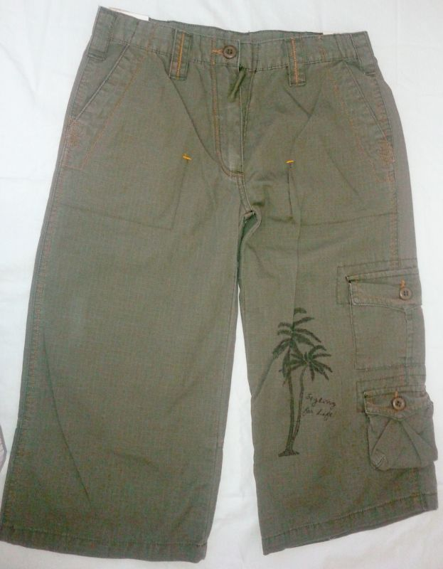kalhoty plátěné 3/4 třičtvrťáky kraťasy HW-fashion