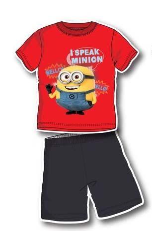 komplet tričko kraťasy Mimoň Mimoni letní
