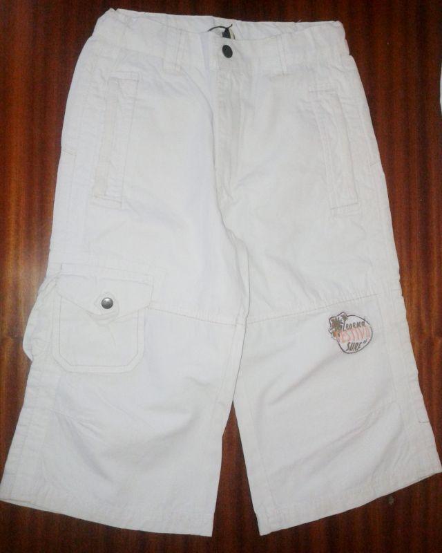 Kvalitní kalhoty 3/4 třičtvrťáky kraťasy 140-146