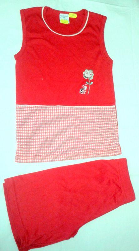 Letní komplet tričko bez rukávu a kraťasy 110 Queen