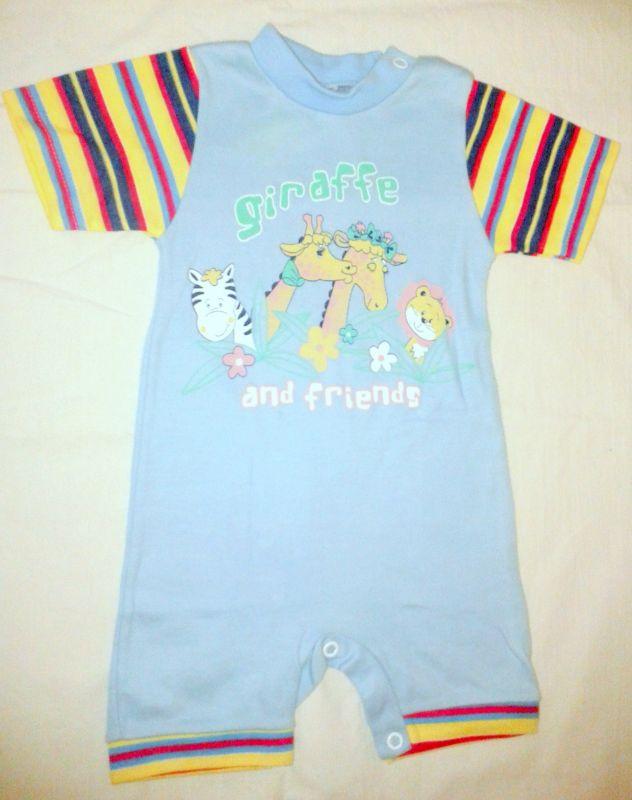 Letní overálek body letní pyžamo 68
