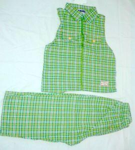 Letní plátěný komplet vesta kalhoty