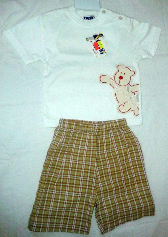 letní tričko plátěné kraťasy komplet Trend Tulec