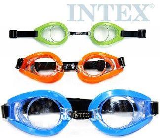 Plavecké BRÝLE 3-10 let na plavání do vody INTEX