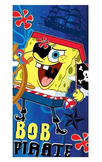 plážová osuška licenční Sponge Bob
