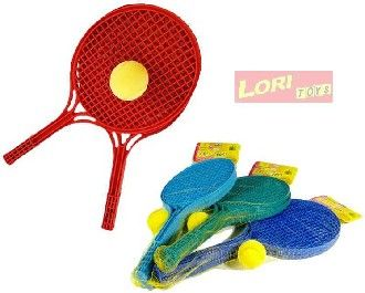 Soft tenis color rakety a míček LORI