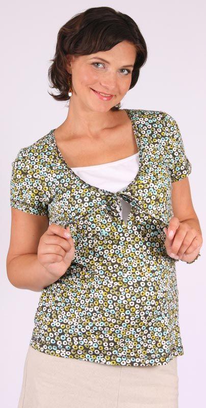 Těhotenské a kojíci tričko halenka krátký rukáv Duvy 46 Rialto