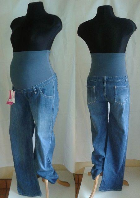 těhotenské kalhoty rifle džíny XL 9FASHION