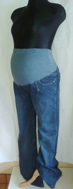 těhotenské kalhoty rifle džíny vysoký pás XL 9FASHION