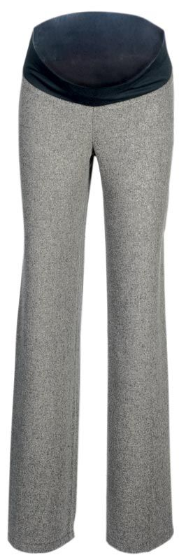 Těhotenské kalhoty - tvíd tenký šedý Rialto