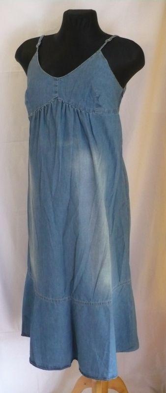 Těhotenské riflové šaty letní Be Mama
