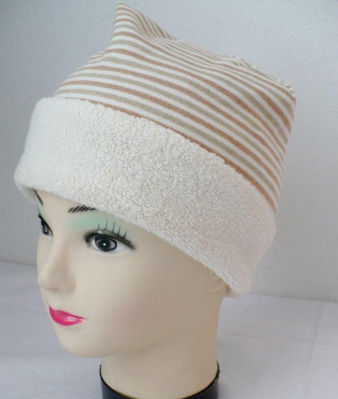 Teplá zimní ohrnovací čepice bio bavlna Lotties