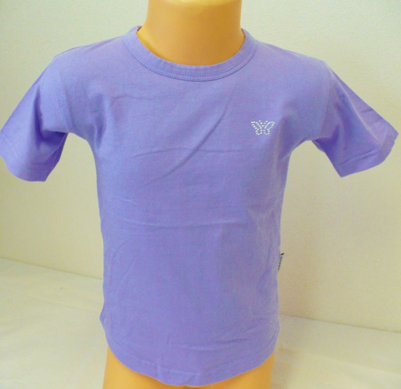 Tričko triko krátký rukáv 104 fialové - VÝPRODEJ Queen