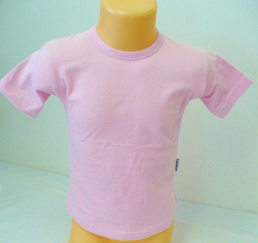 Tričko triko krátký rukáv 92-98 růžové - VÝPRODEJ Queen