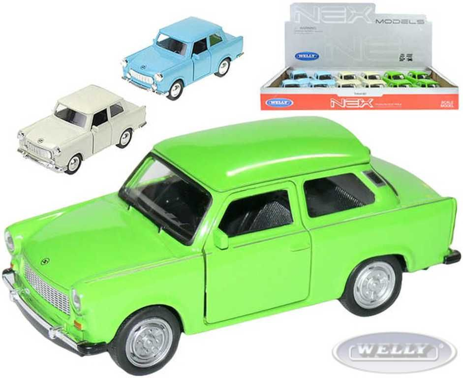 Auto model 1:36 TRABANT 601 kov PB 11cm 3 barvy Welly
