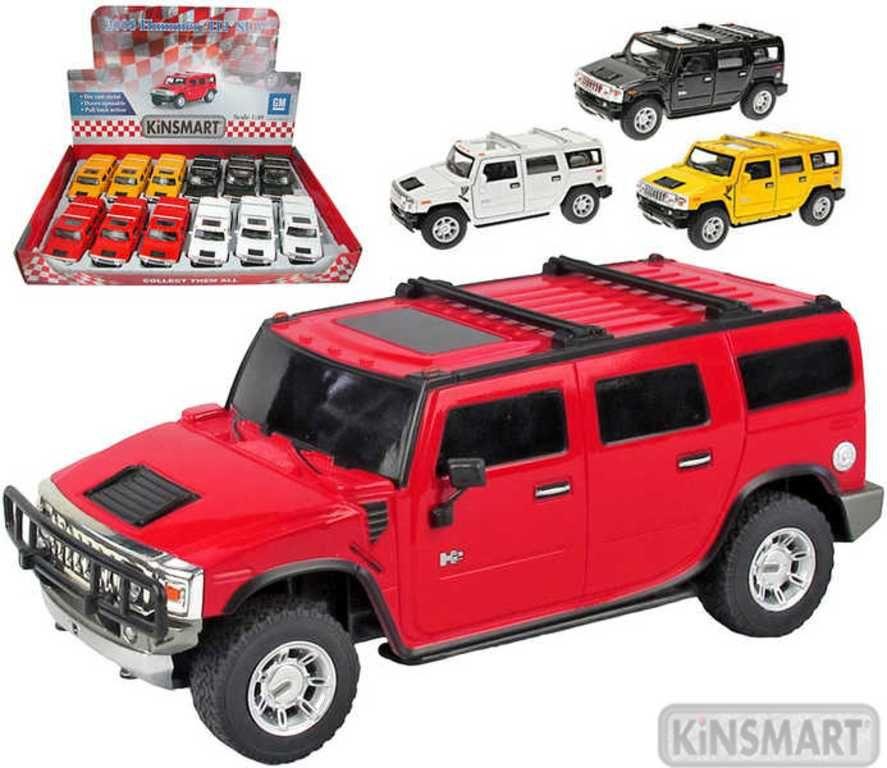 Auto model 1:40 HUMMER H2 SUV kov PB 12cm 4 barvy Kinsmart