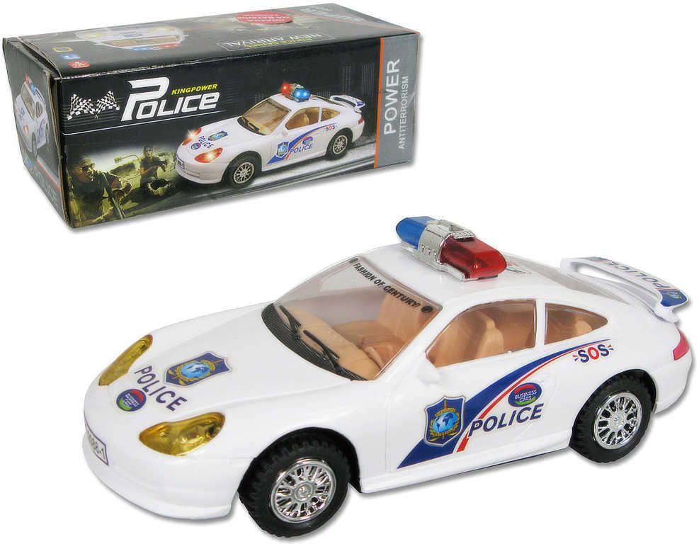 Auto sportovní policie na baterie bílé Světlo