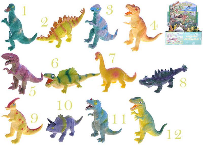 Dinosaurus měkký plastové zvířátko 10-12cm 12 druhů