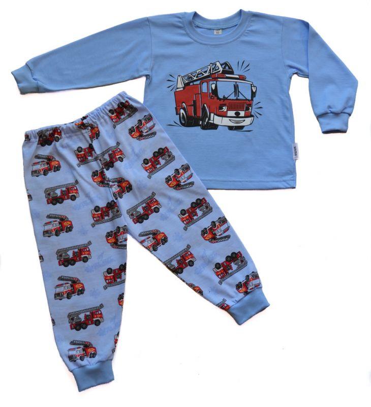 Chlapecké bavlněné pyžamo Hasičské auto BETTY MODE