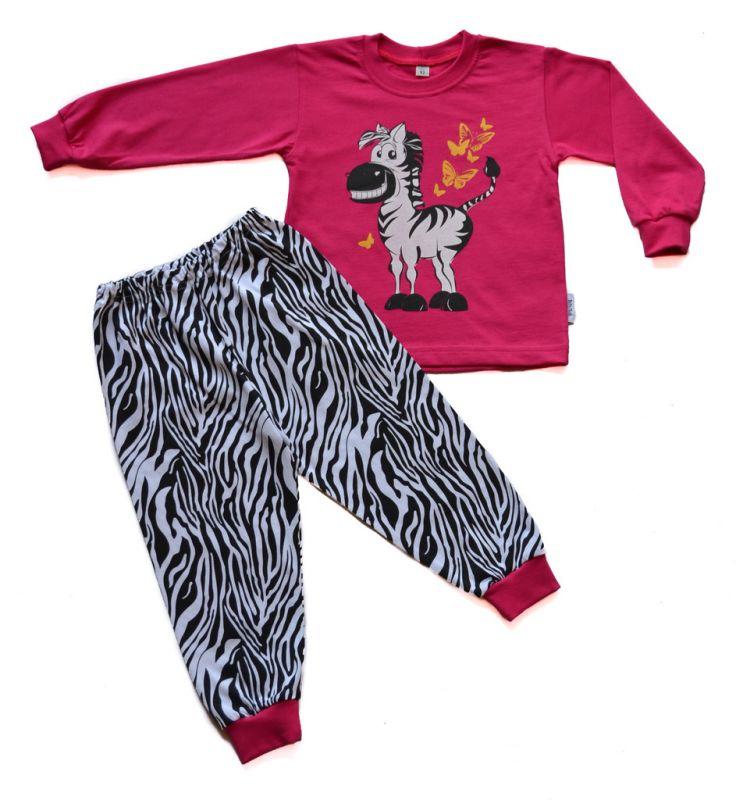 Dívčí bavlněné pyžamo Zebra BETTY MODE