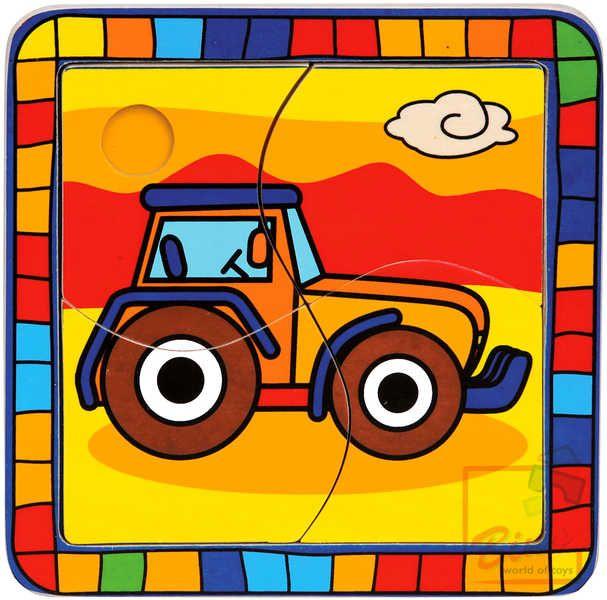 DŘEVO Puzzle traktor * DŘEVĚNÉ HRAČKY * Bino