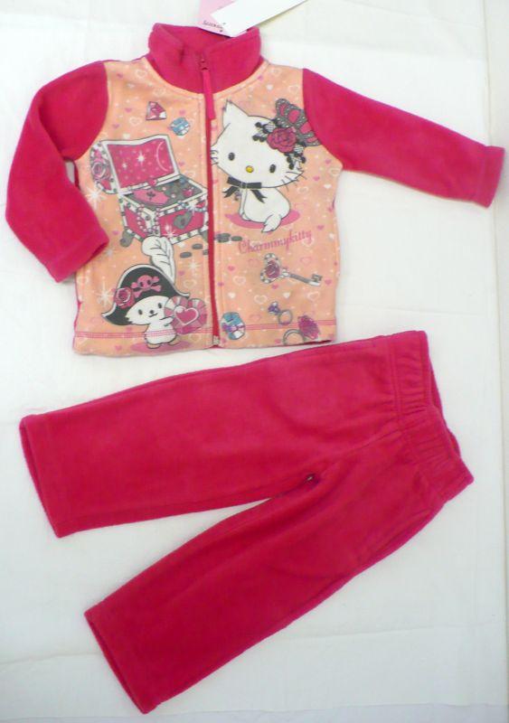 Flísová souprava kalhoty tepláky mikina Hello Kitty 86 - VÝPRODEJ Disney
