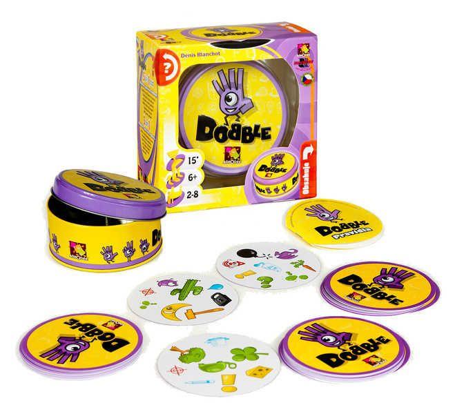 Hra desková Dobble v plechové krabičce *SPOLEČENSKÉ HRY*