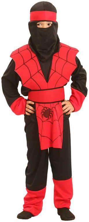 KARNEVAL Kostým NINJA pavouk vel. S (110-120 cm) 4-6 let KOSTÝM