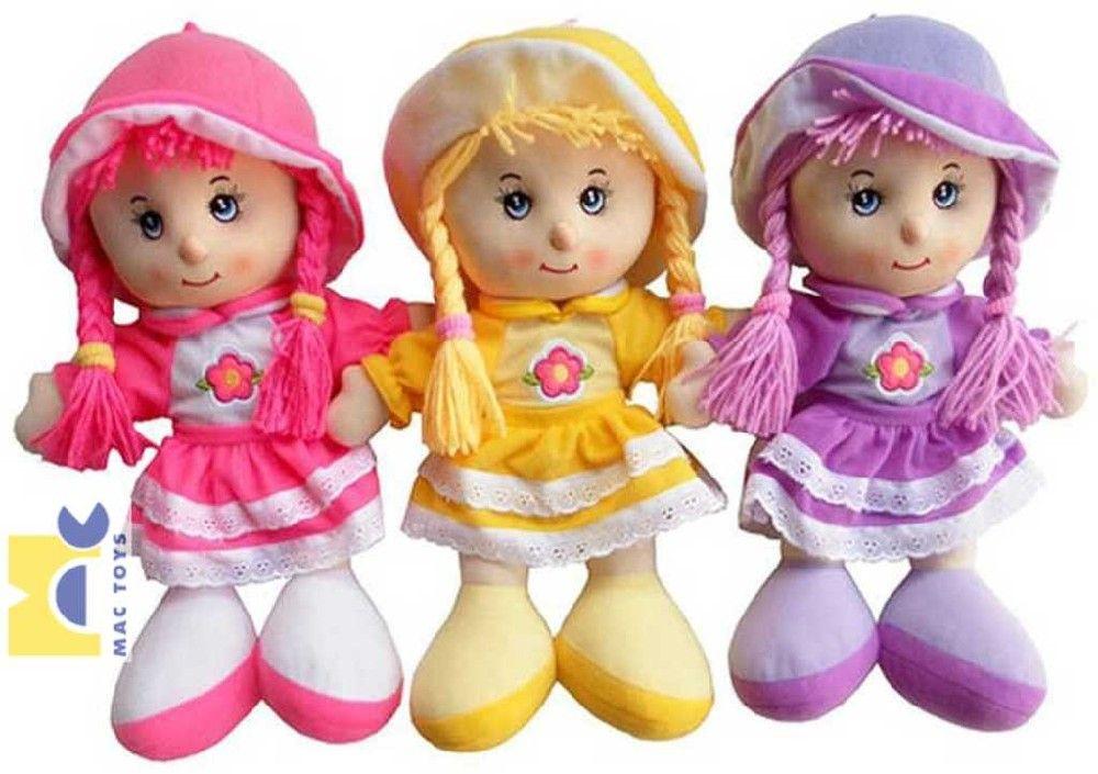 Panenka Anička látková 35 cm 3 barvy zpívá a mluví Mac Toys