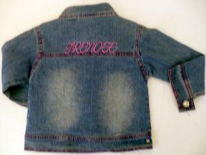 Riflová bunda - džiska dívčí - VÝPRODEJ Trend Tulec