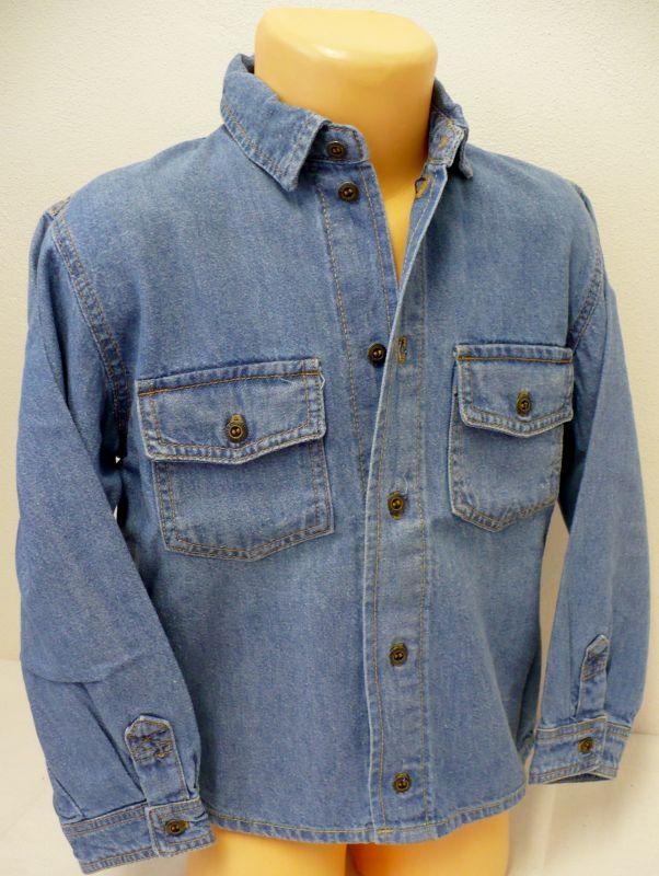 Riflová košile s dlouhým rukávem - VÝPRODEJ