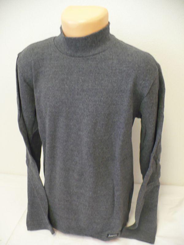 Rolák stojáček šedé tričko s dlouhým rukávem Dovera