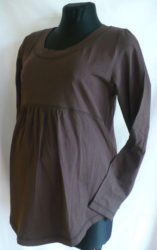 Těhotenská halenka tričko dlouhý rukáv 42 Rialto