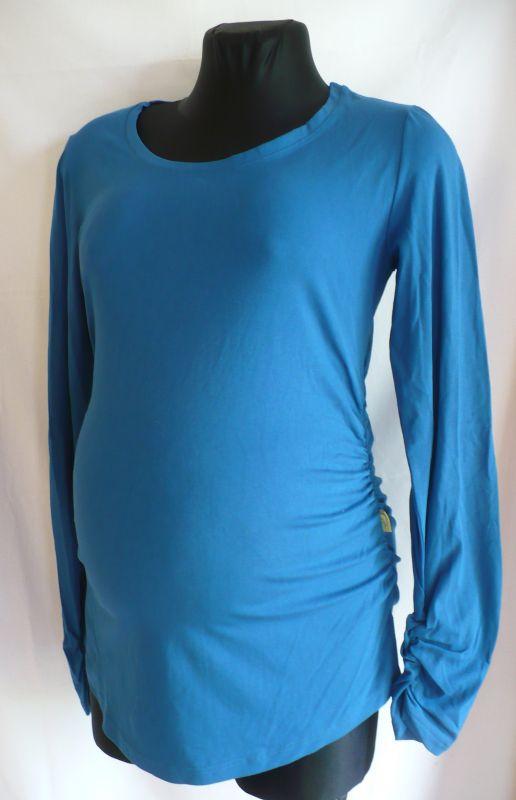 Těhotenská halenka tričko dlouhý rukáv L Be Mama