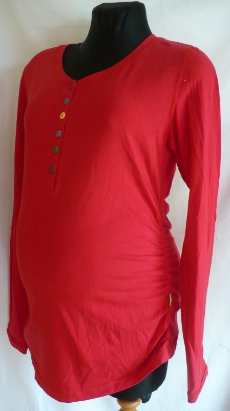 Těhotenská halenka tričko dlouhý rukáv XL Be Mama