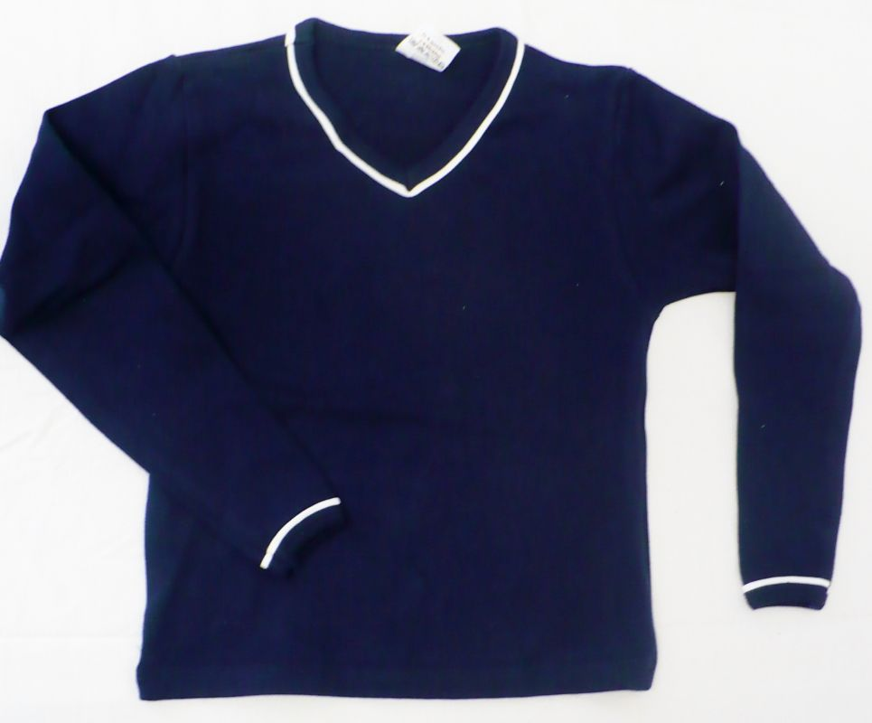 Tričko s dlouhým rukávem modrá vel.122 Sotex