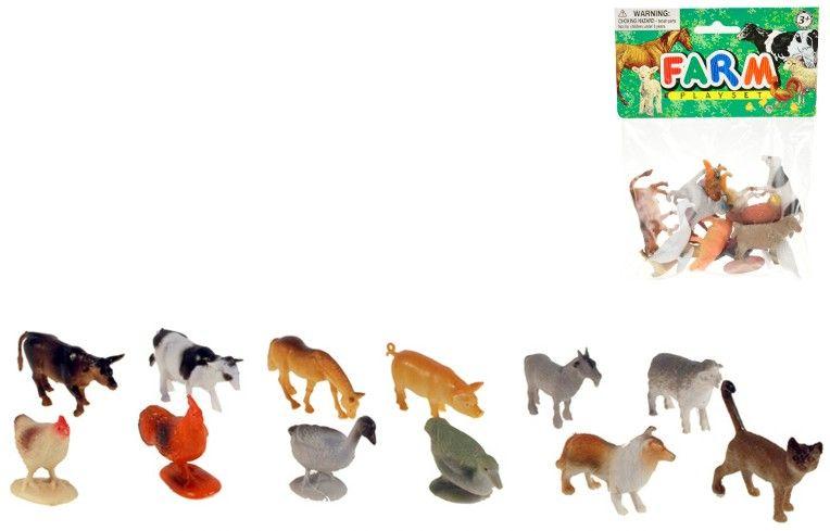 Zvířátka domácí Set 12ks figurek v sáčku