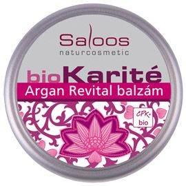 BioKarité balzámy do kapsy i do kabelky Argan Revital balzám Saloos- Salus