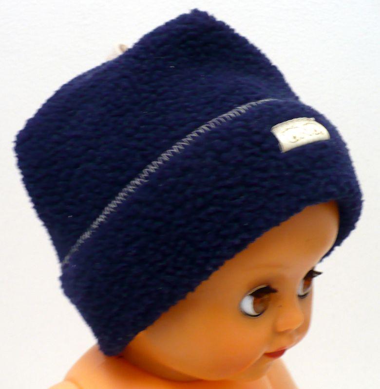 Čepice zimní flísová modrá Ono