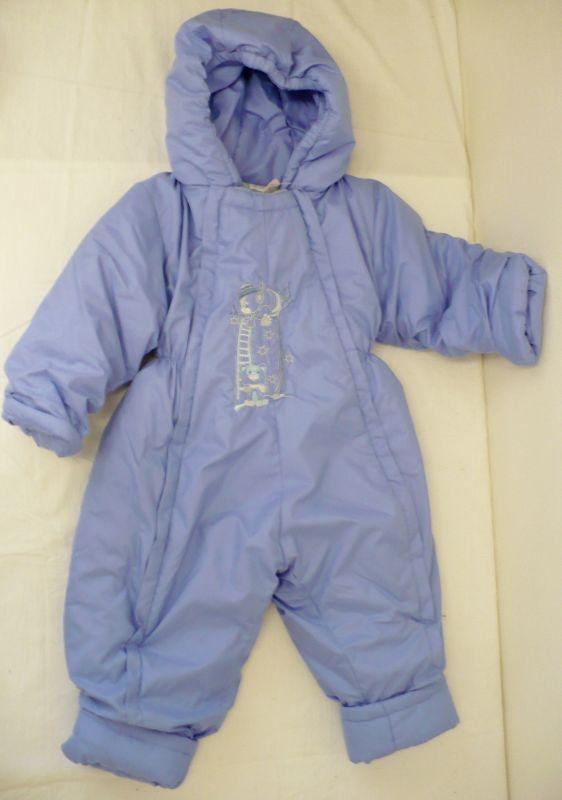 Dětská kojenecká zimní kombinéza modrá 86 Vejnar