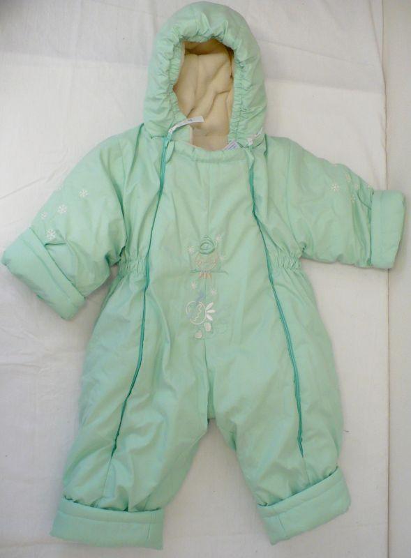 Dětská kojenecká zimní kombinéza zelená 80 Vejnar