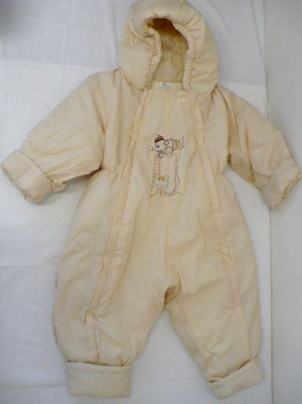 Dětská kojenecká zimní kombinéza béžová 86 Vejnar