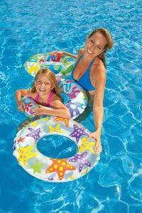 INTEX Kruh plavací LIVELY 61 cm NAFUKOVACÍ KOLO do vody