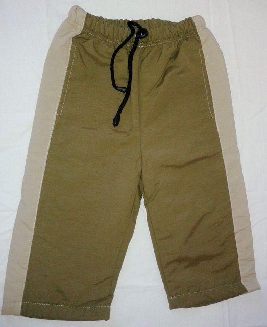 Kalhoty šusťáky podšité flísem vel.74 - VÝPRODEJ Queen