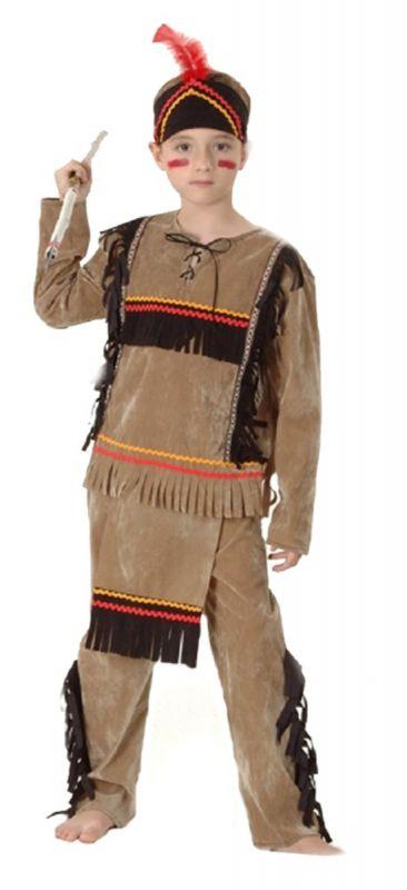 KARNEVAL Šaty INDIÁN s čelenkou vel. (110-120 cm) KOSTÝM Made